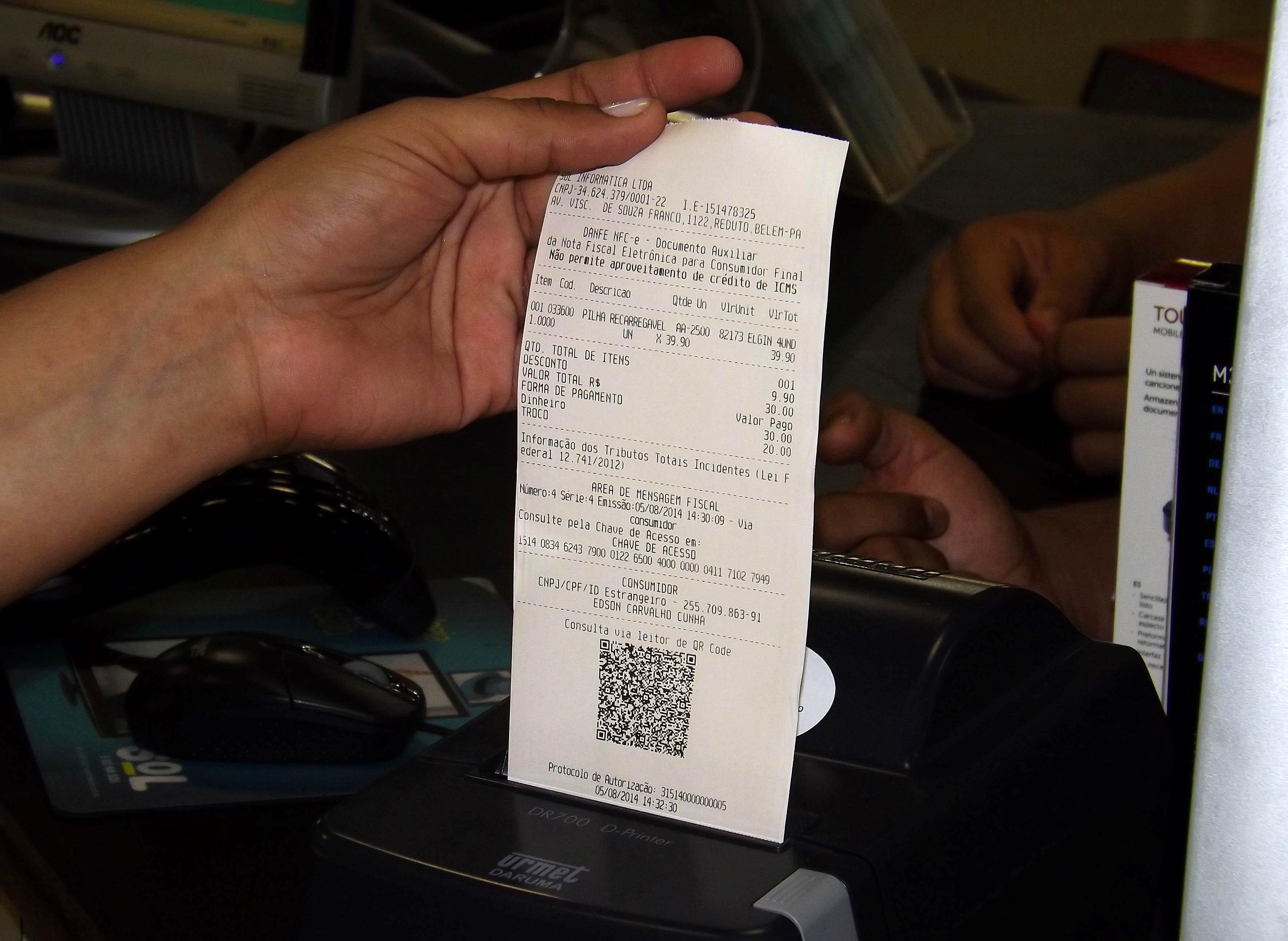 Empresas terão 12 meses para se adaptar às regras da NFCe