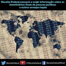 Receita Federal passará a exigir informação sobre os beneficiários finais de pessoas jurídicas e outros arranjos legais