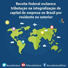 Receita Federal esclarece tributação na integralização de capital de empresa no Brasil por residente no exterior