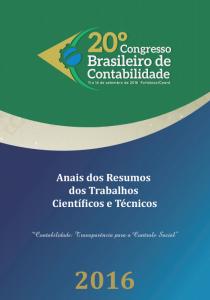 20º CBC: publicado Anais dos Resumos dos Trabalhos Científicos e Técnicos