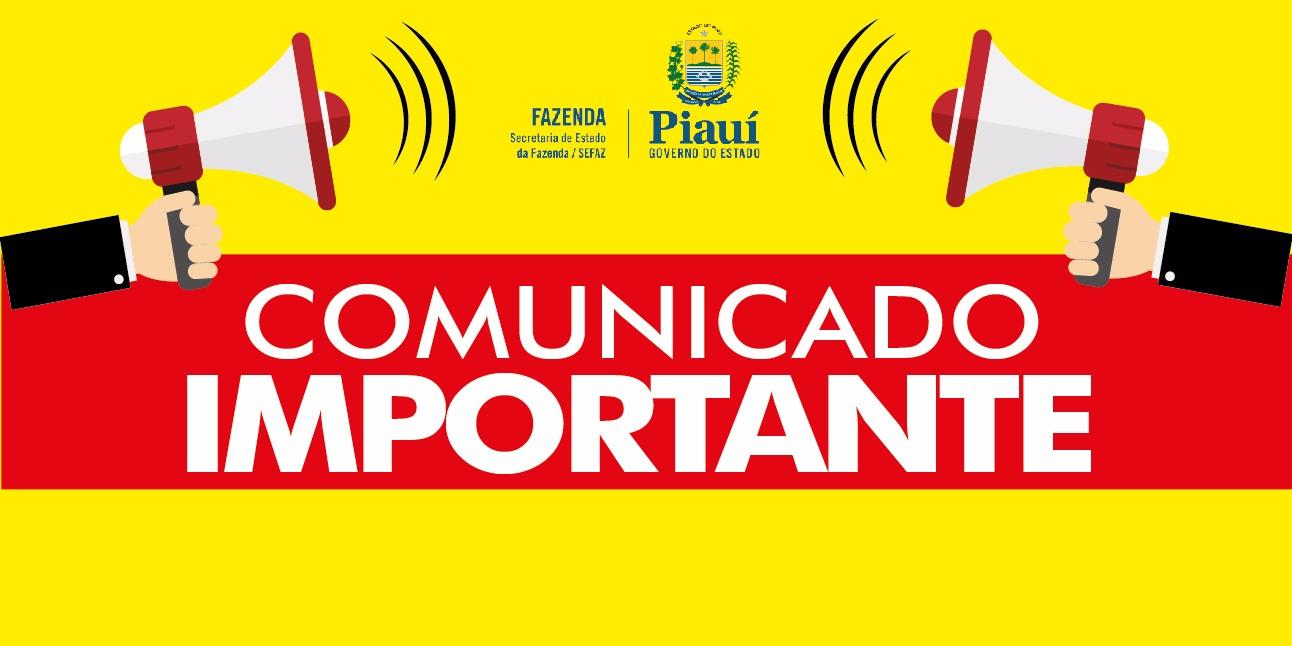 Piauí – Atenção contribuintes do ICMS !
