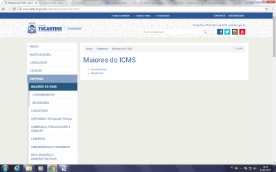 Secretaria da Fazenda de Tocantins lista 50 maiores contribuintes e 50 maiores devedores do ICMS