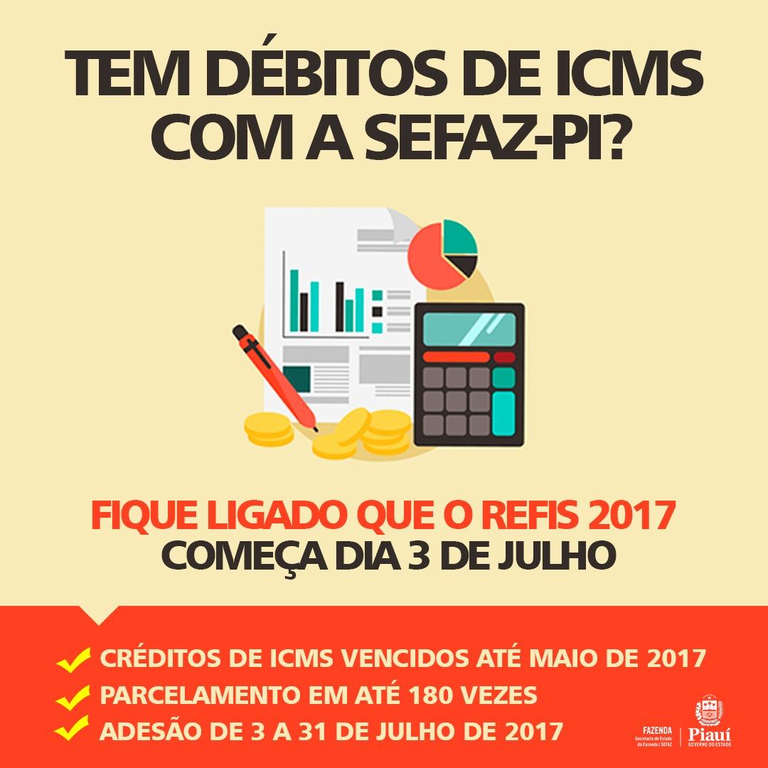 Piauí – Prazo para adesão ao REFIS de ICMS começa na segunda, dia 3 de julho