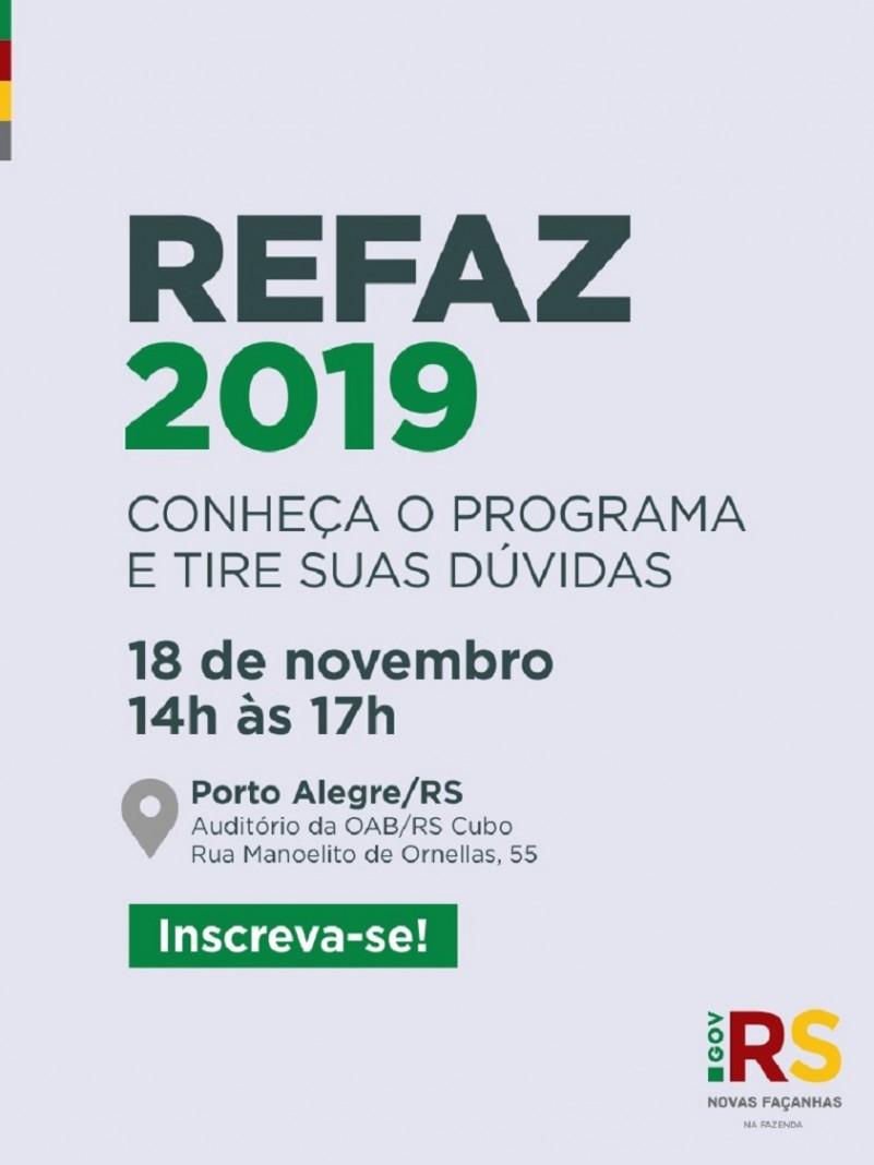 Hoje, PGE e Receita Estadual organizam evento para esclarecer dúvidas sobre o Refaz – Rio Grande do Sul