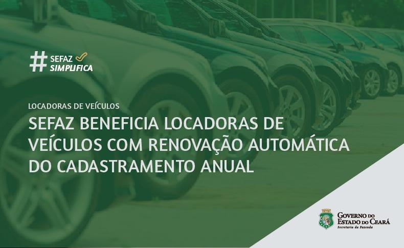 Sefaz Ceará simplifica procedimento para locadoras de veículos