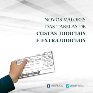 Tabelas de custas judiciais e extrajudiciais terão novos valores em 2020