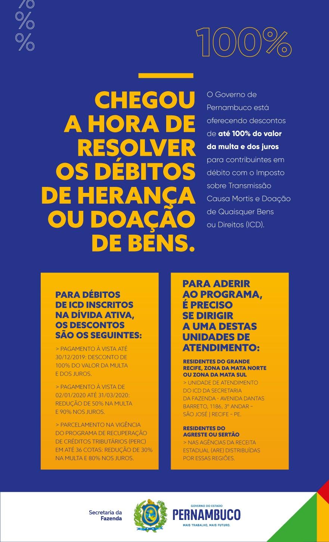Pernambuco oferece desconto no pagamento de impostos sobre heranças e doações