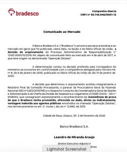 Bradesco: processo administrativo envolvendo banco na Operação Zelotes é arquivado