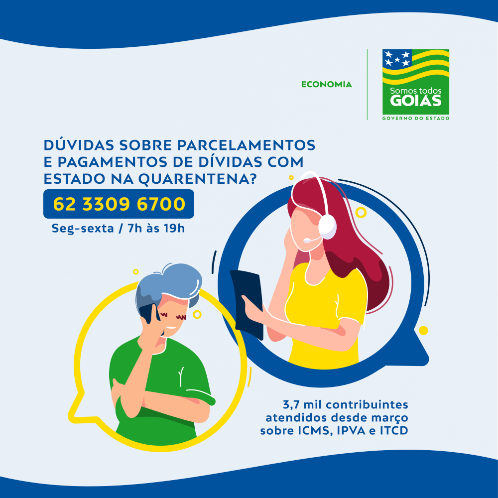 Contribuintes de Goiás recebem orientações sobre dívidas na quarentena