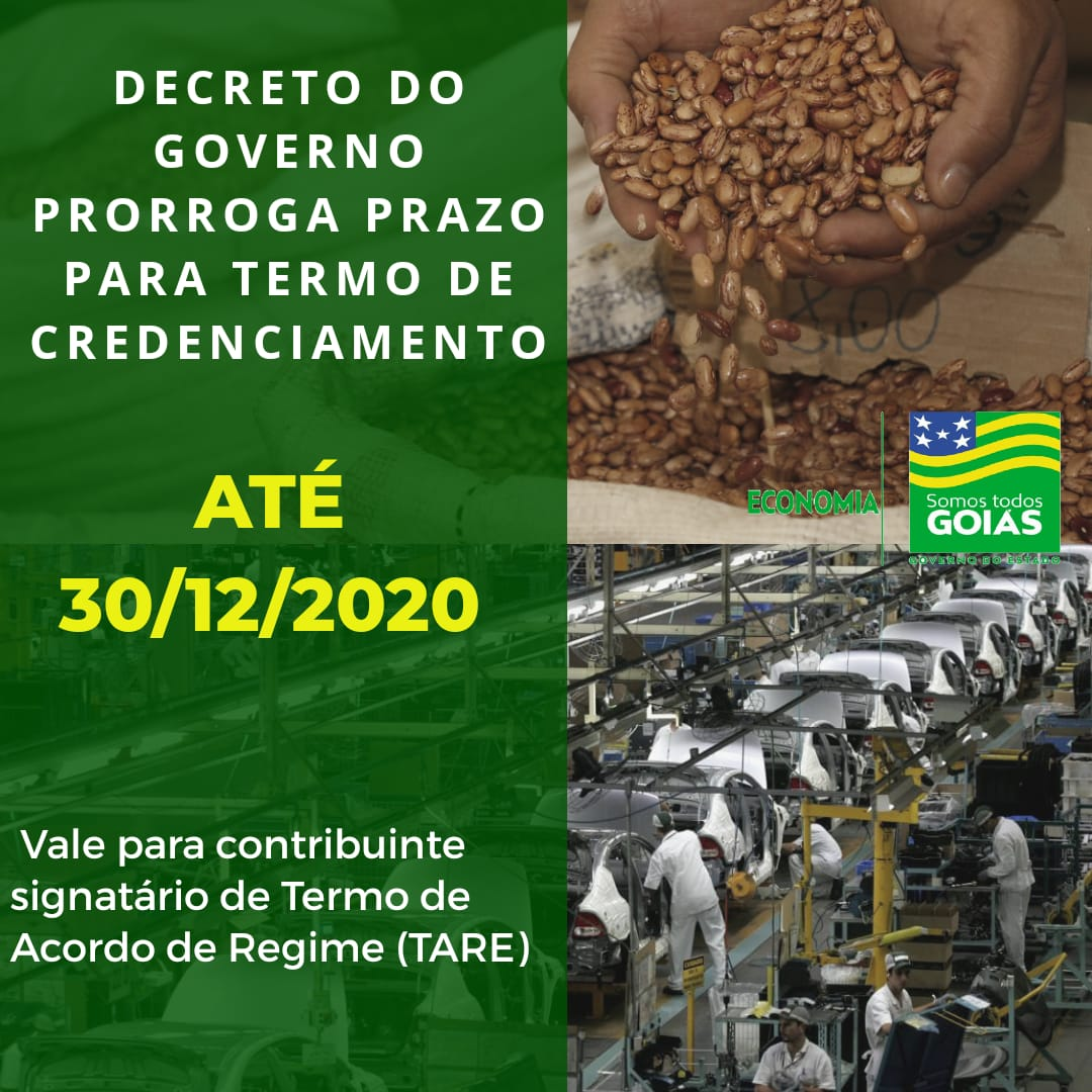 Goiás concede mais tempo para o contribuinte realizar Termo de Credenciamento