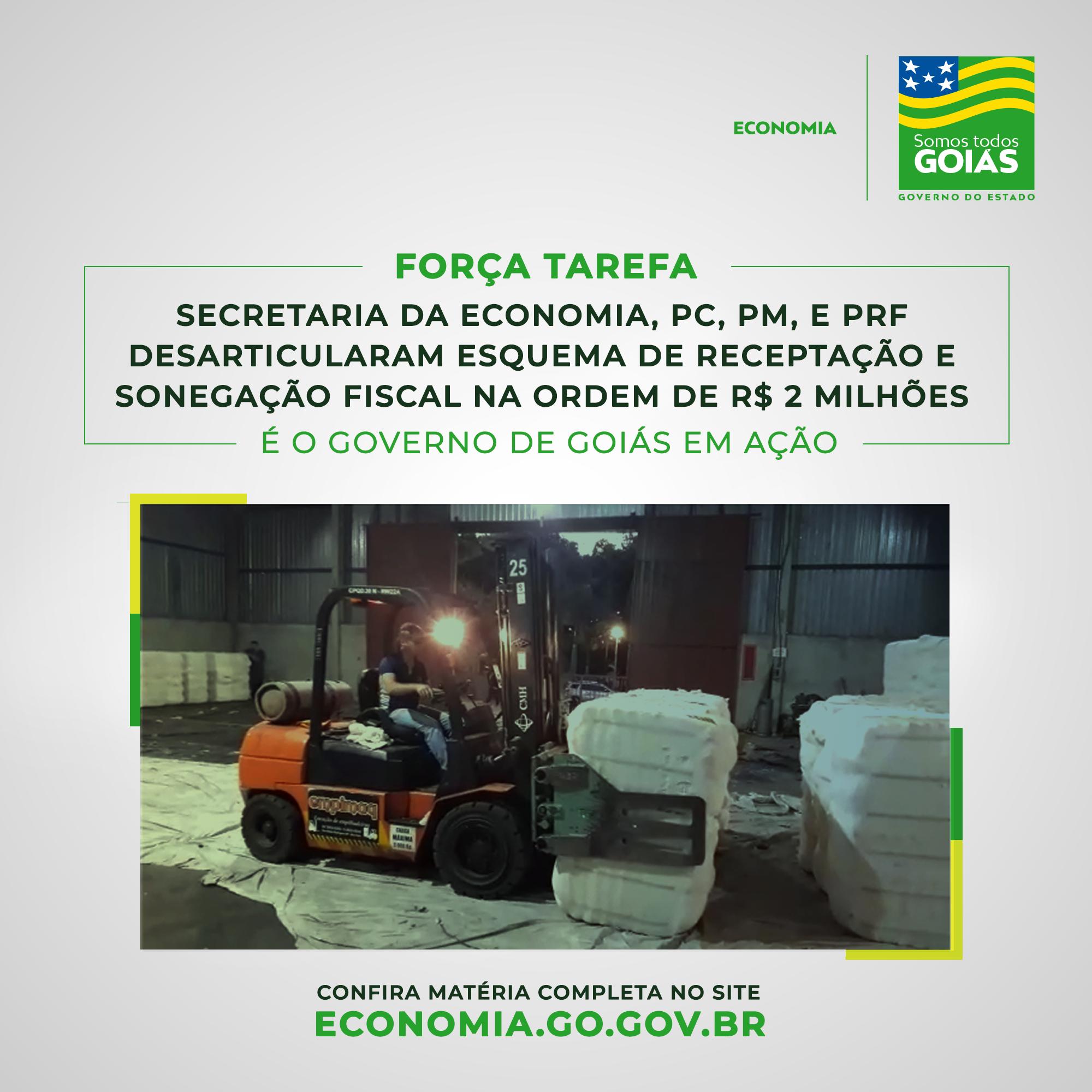 Operação com Fisco desarticula esquema de receptação e sonegação fiscal