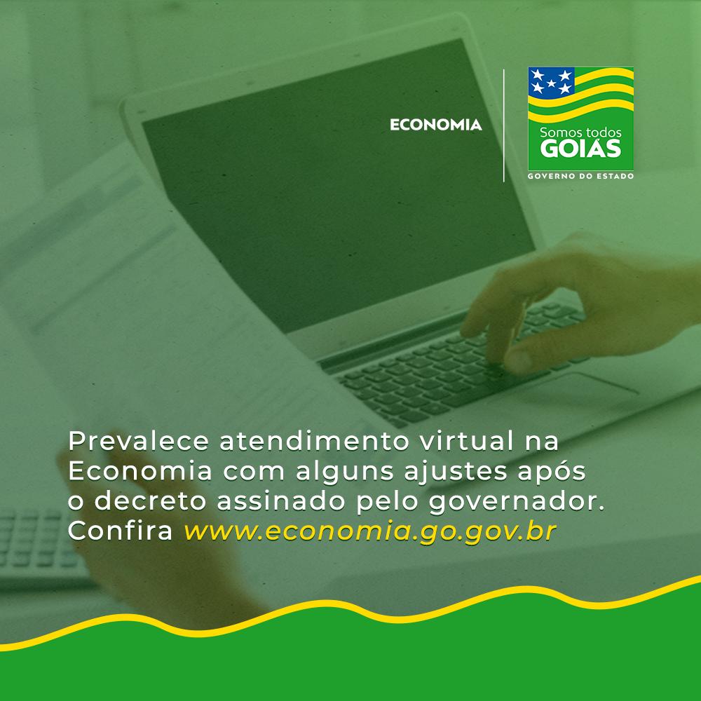 Prevalece atendimento virtual na Economia – Goiás