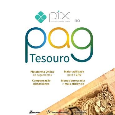 PagTesouro disponibiliza o Pix como uma das formas de pagamento por serviços públicos a partir desta segunda-feira (16/11)