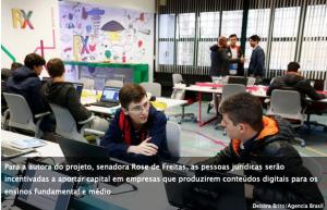 PL prevê dedução de IR de startups que produzam conteúdos para educação básica