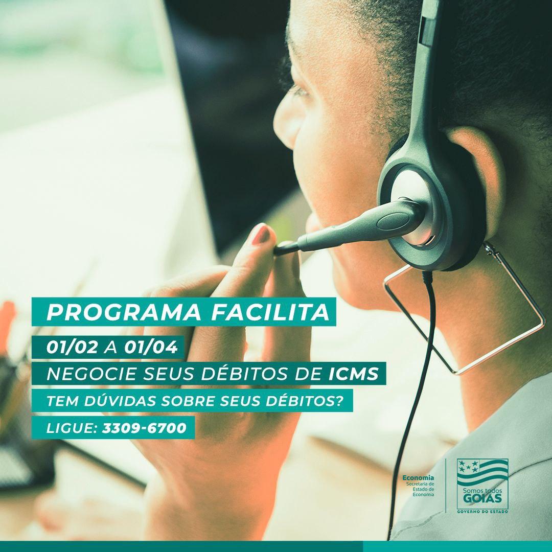 Goiás – Economia informa a devedores de ICMS sobre programa Facilita