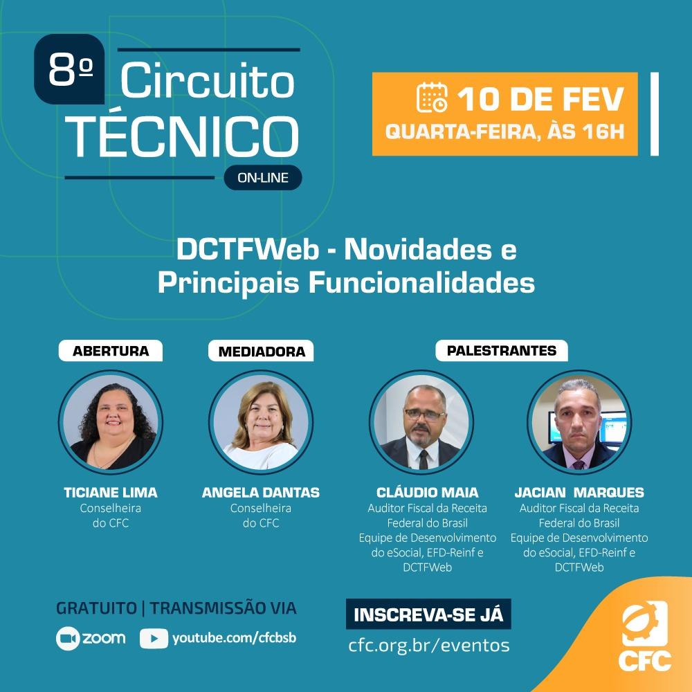 8º Circuito Técnico do CFC apresenta as novidades e funcionalidades da DCTFWeb