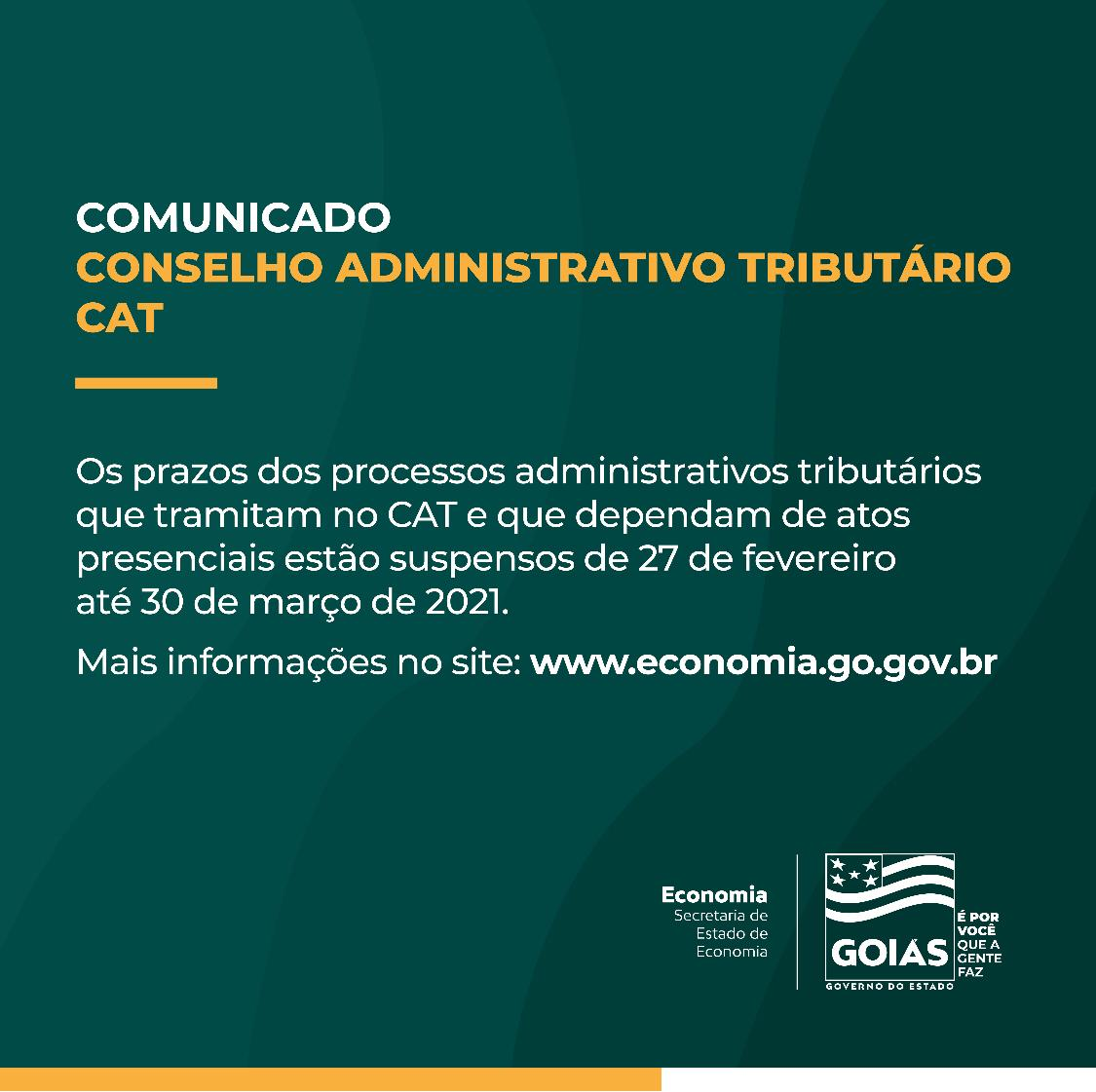 Goiás – Suspensos prazos de processos administrativos que dependam de atos presenciais