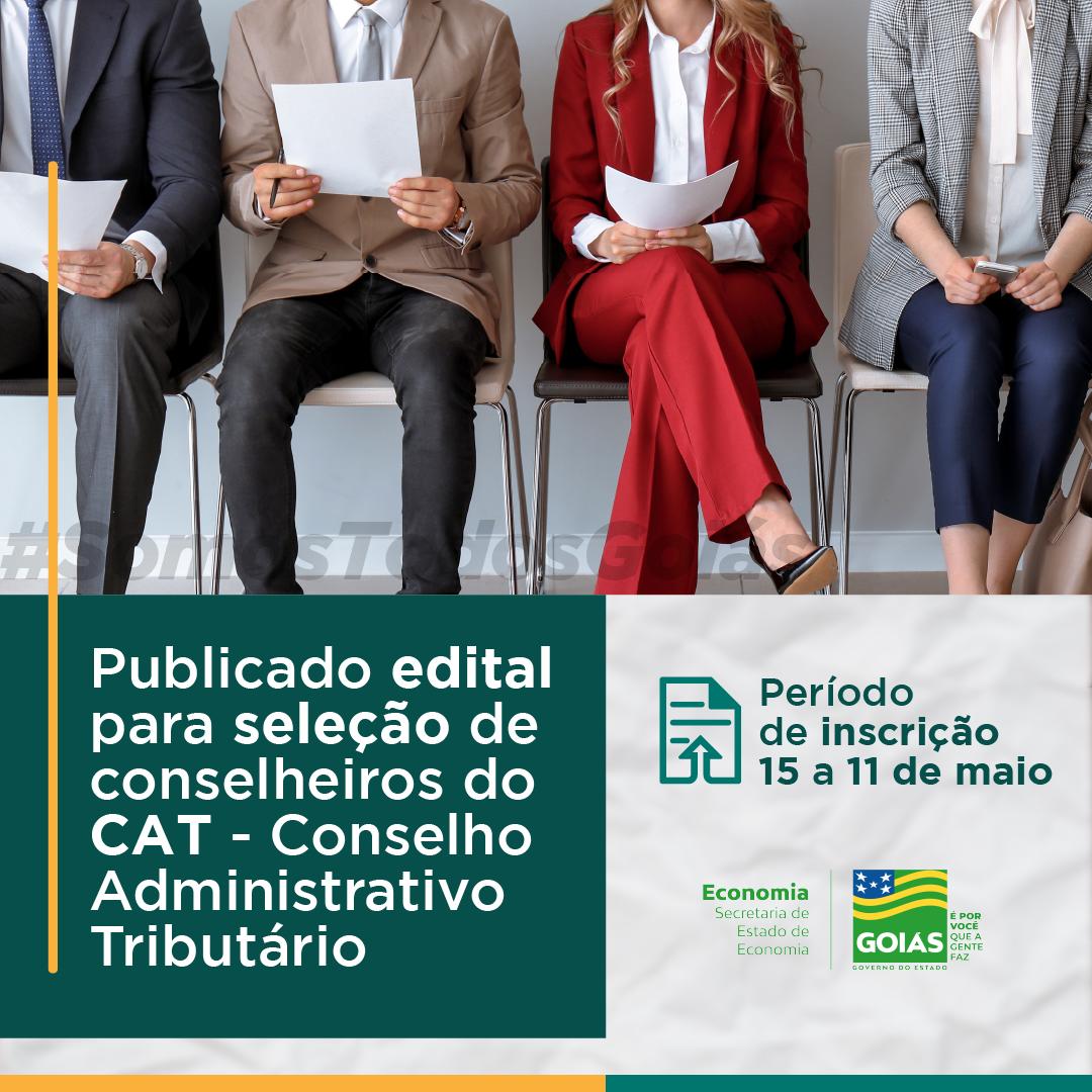 Goiás – Publicado edital para seleção de conselheiros do CAT