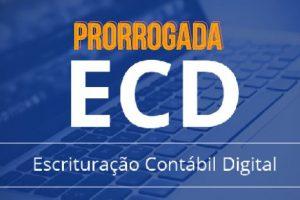Prorrogado o prazo de entrega da ECD