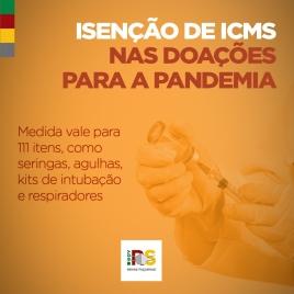 Governo gaúcho publica isenção de ICMS para doações no enfrentamento da Covid-19