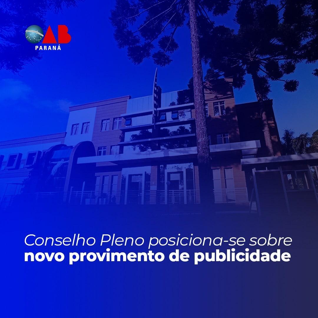 Conselho Pleno posiciona-se sobre novo provimento de publicidade
