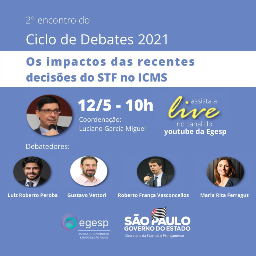 SP – Segundo encontro do ciclo de debates do ICMS acontece na próxima quarta-feira (12)