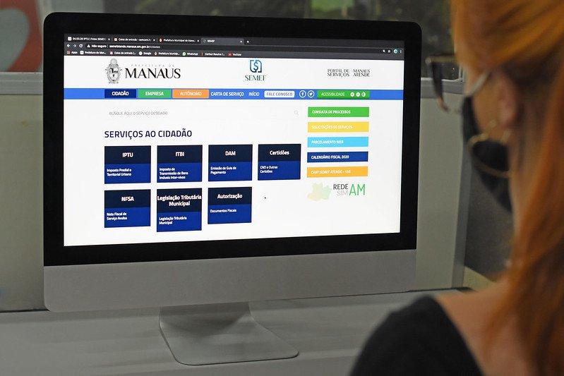 Atendimento tributário da 'Manaus Atende' continua por meio on-line