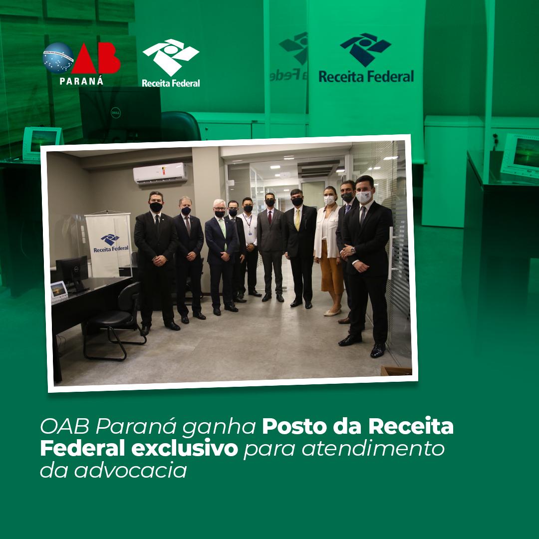 OAB Paraná ganha posto da Receita Federal exclusivo para atendimento da advocacia