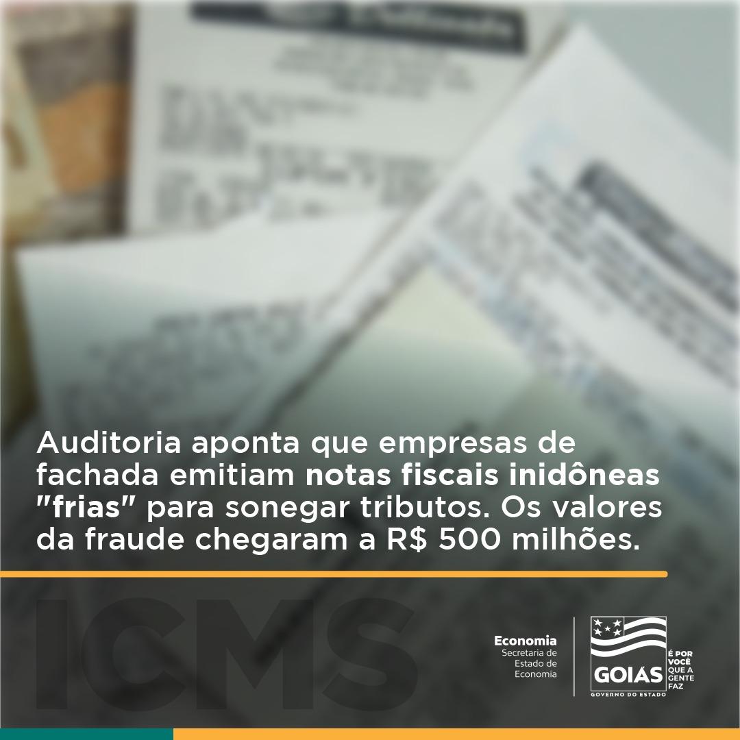 Goiás – Auditoria constata fraude de cerca de R$ 500 milhões com créditos inidôneos