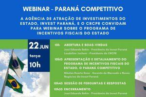 Webinar detalha programa de incentivos fiscais no Paraná a contadores