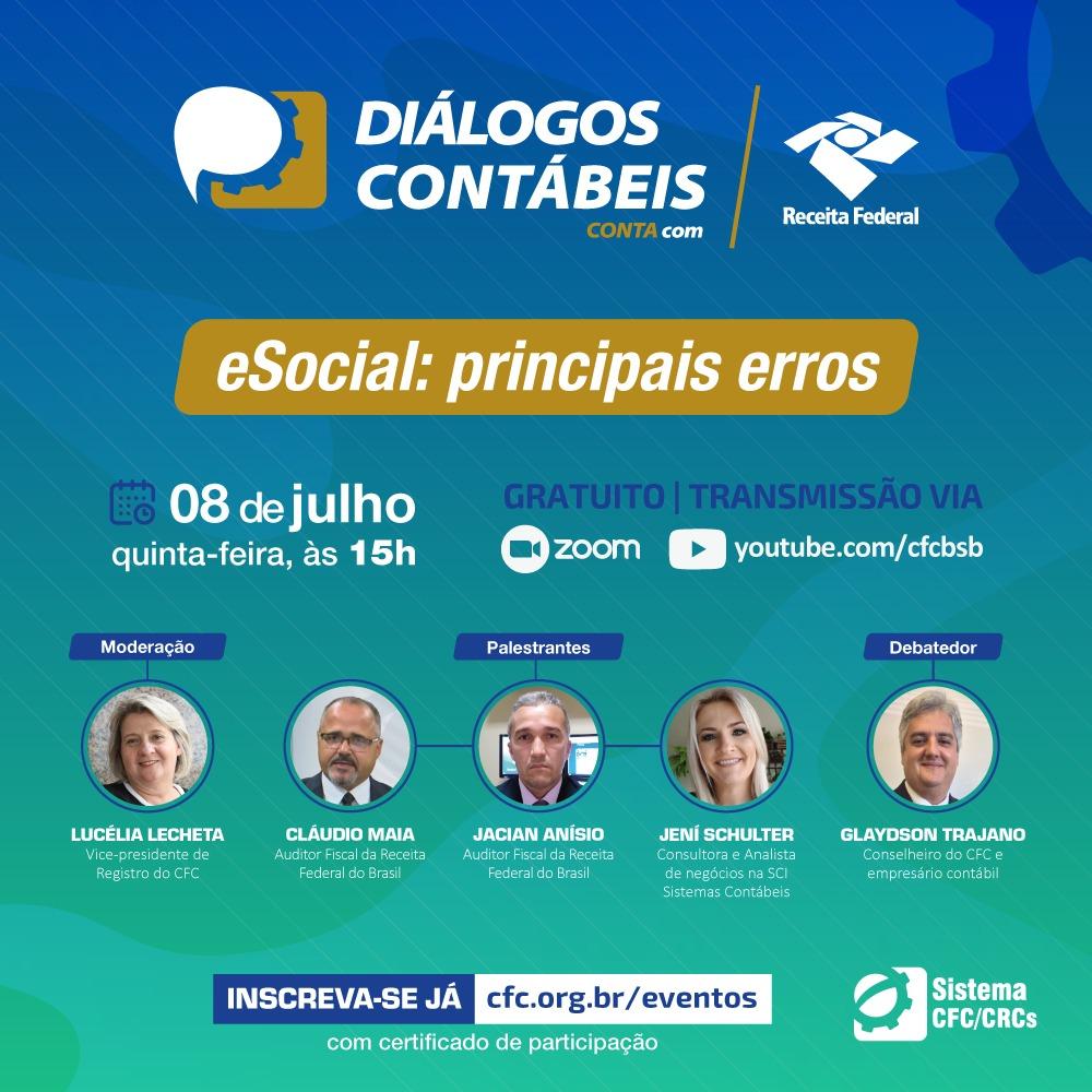 Primeiro evento da série Diálogos Contábeis acontece nesta quinta (8)