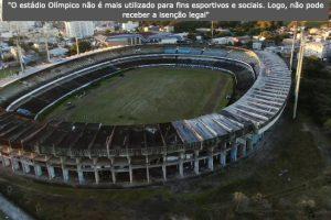 Grêmio terá de pagar R$ 1 milhão de IPTU referente ao estádio Olímpico
